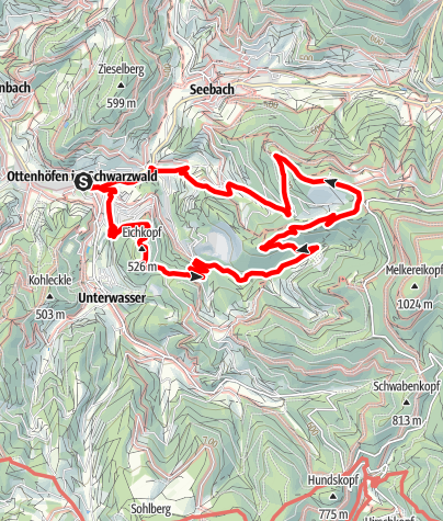 Map / Genießerpfad - Karlsruher Grat, Ottenhöfen