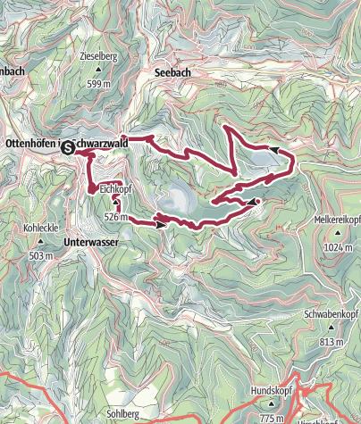 Karte / Genießerpfad Karlsruher Grat, Ottenhöfen im Schwarzwald (OFFIZIELLE TOUR)