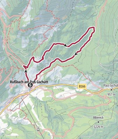 Karte / Russbach: Schneckenwand Rundweg