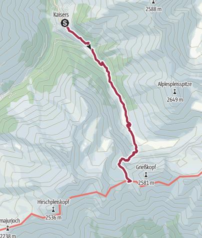 Karte / Kaiserjoch-Haus 2.310m