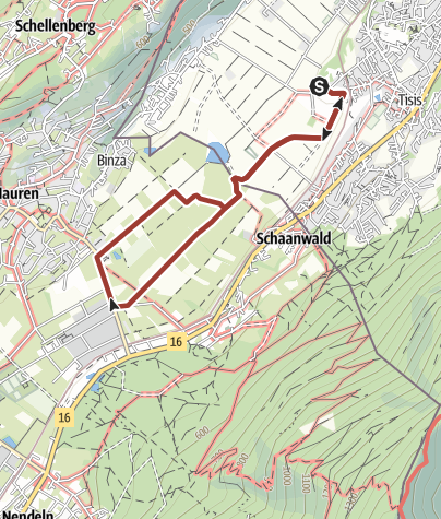 Karte / Barrierefrei: Am Rande des Fürstentums – Ein Liechtensteiner Rundweg ab Tisis