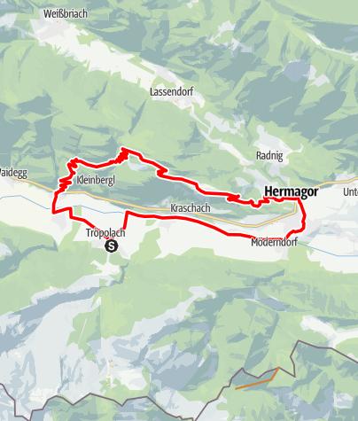 Karte / Tröpolach Hermagor Guggenberg Jenig