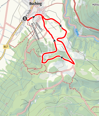 Karte / Buchenberg-Rundweg
