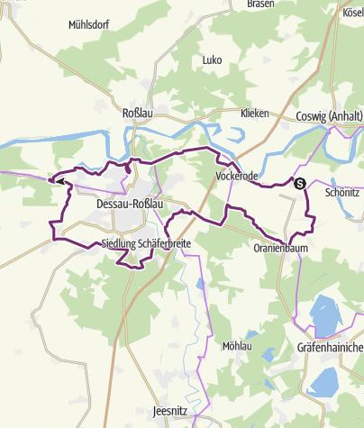 """Karte / Gartenreich-Tour """"Fürst Franz"""""""