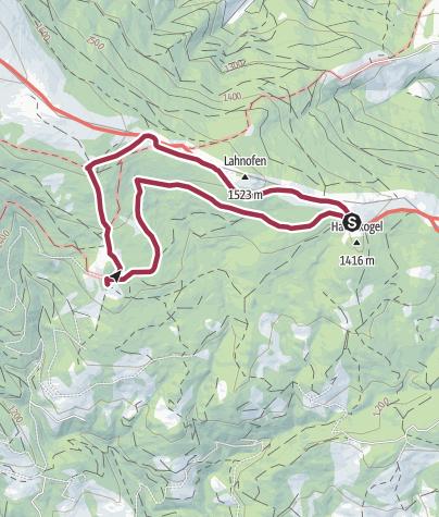 Karte / 3-Almhüttenwanderung