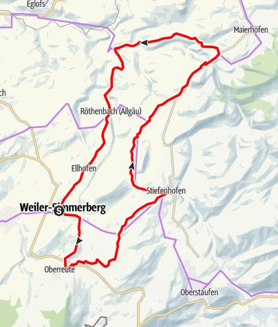 Karte / Tobelbach-Runde