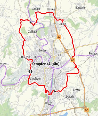 Karte / Kemptner-Runde