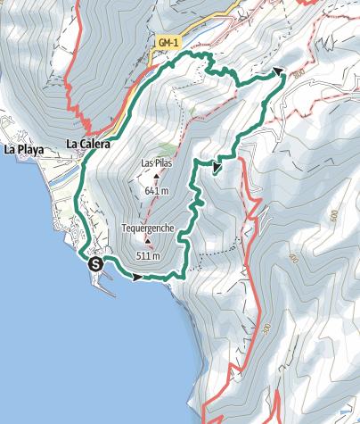 Map / Vom Valle Gran Rey durch den Barranco de Argaga