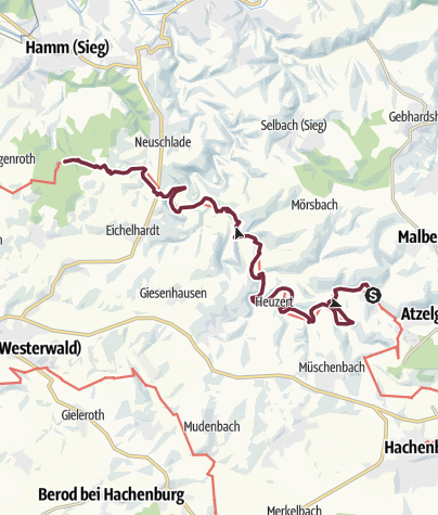 Map / Westerwald-Steig Stage 10: Limbach - Marienthal Abbey (East - West)