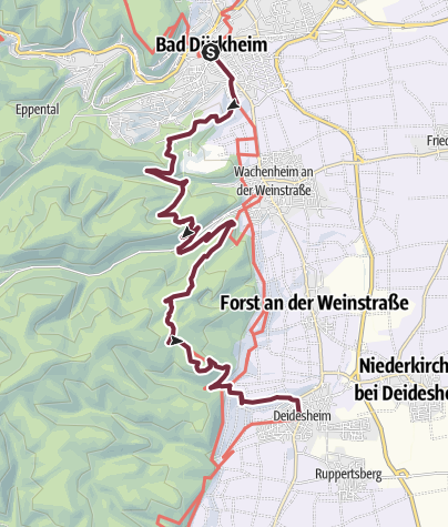 Karte / Pfälzer Weinsteig Etappe 03 Bad Dürkheim - Deidesheim