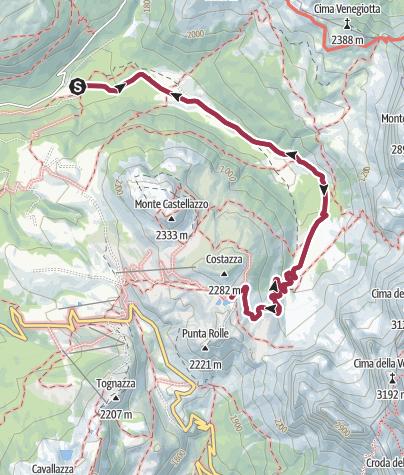 Map / Wanderung im Val Venegia