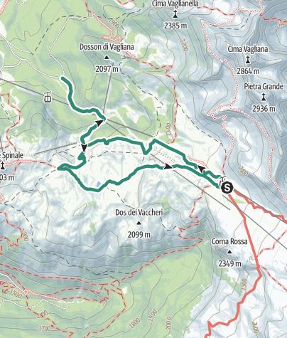 Cartina / Madonna di Campiglio – Malga Boch – Rifugio Graffer