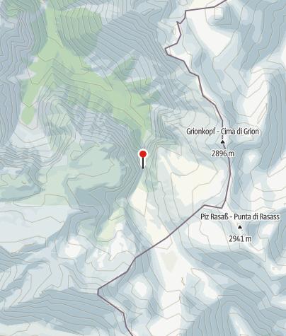 Karte / Uinaschluchtweg - Die Tunnel und Gallerien vom oberen Val d´ Uina.