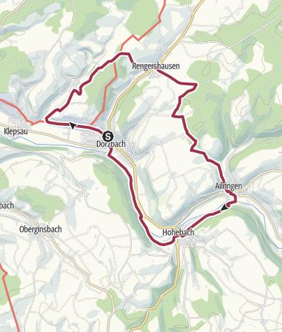 Karte / Buckeleswanderung