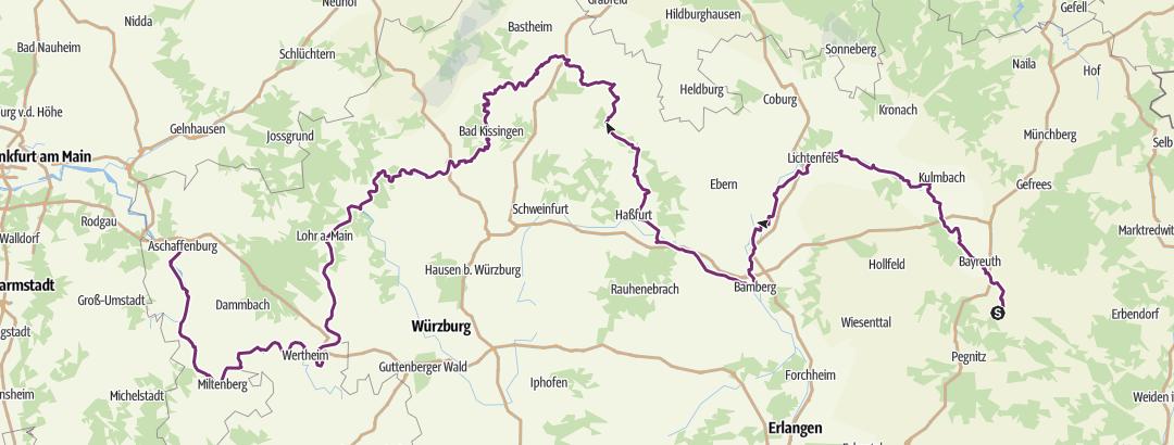 Map / D 5 Mainradweg