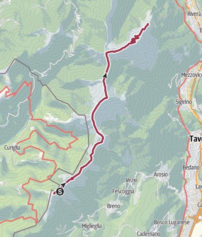 Karte / Vom Monte Lema zum Monte Tamaro