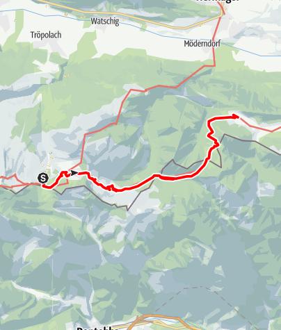 Karte / Karnischer Höhenweg vom Nassfeld bis zur Egger Alm