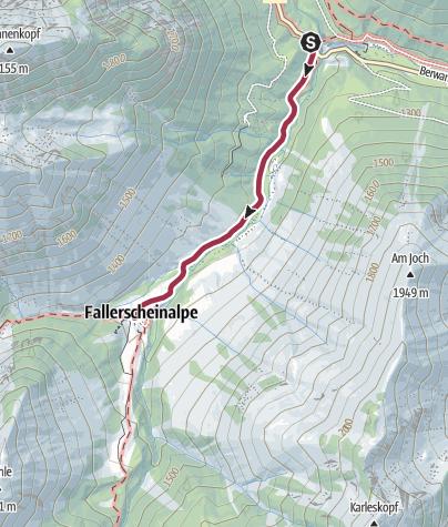 Karte / Berwang - Michl's Fallerscheinstube ab Namlos
