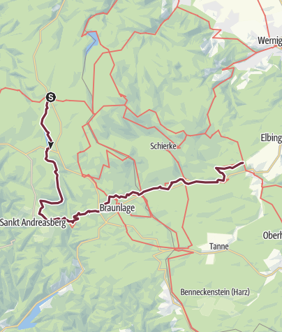 Ddr Grenze Karte Harz.Harzer Hexen Stieg Brockenumgehung Fernwanderweg