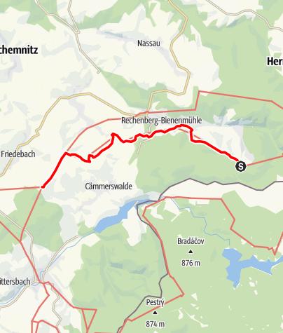 """Karte / Kammweg Etappe 02 """"Von Holzhau nach Sayda"""""""