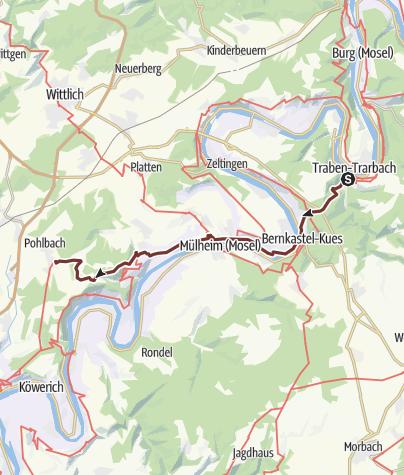 Karte / JAKOBSWEG - Wanderung von Traben-Trarbach bis Klausen