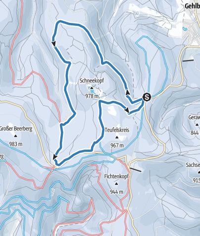 Karte / Loipe um den Schneekopf