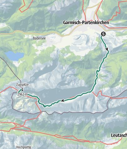 Karte / Durch das Reintal auf die Zugspitze