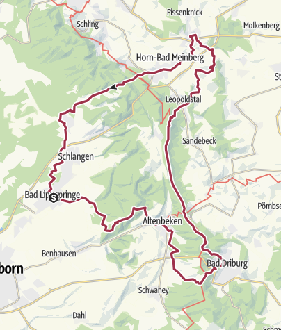 "Map / ""Bäderweg"""