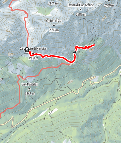 Map / 05 From the ELBEL PASS to the De Gasperi Refuge - Sappada