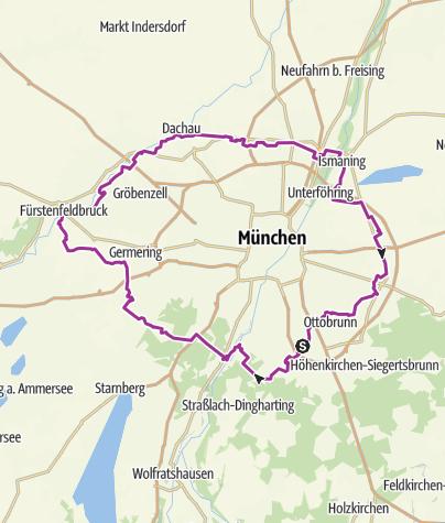 Karte / Radlring München