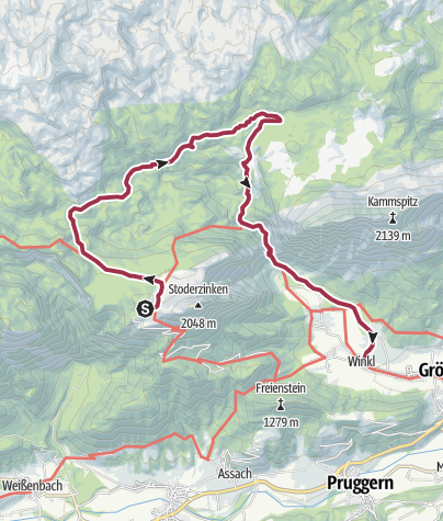 Map / Hike through forest and alpine pastures from the Stoderzinken to the Viehbergalm