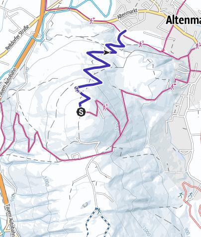 Karte / Rodelbahn Berggasthof Winterbauer