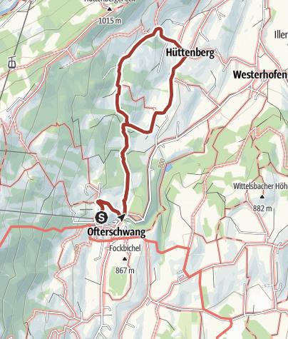 Karte / Naturlehrpfad zwischen Ofterschwang und Hüttenberg