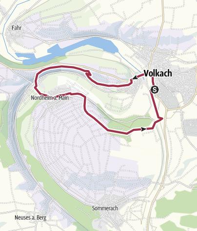 Karte / Volkach Vogelsburg Hallburg Nordheim