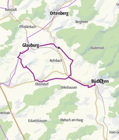 Karte / Keltenradweg