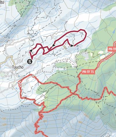 Karte / Teneriffa Süd - Rural Rundwanderung ab Taucho