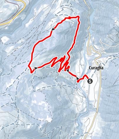 Map / Curaglia- Academia Vivian    Rundtour