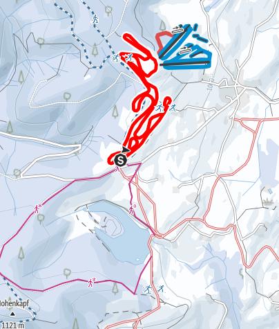 Karte / Eschacher Wettkampfloipe