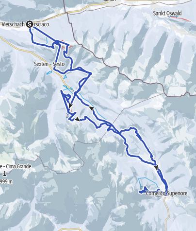 地图 / Grande Giro delle Cime