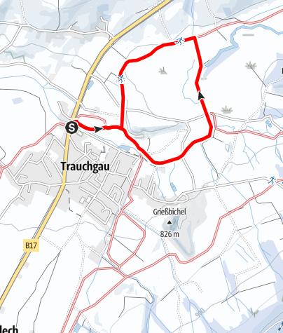 Karte / Flutlichtloipe Trauchgau (T 3)