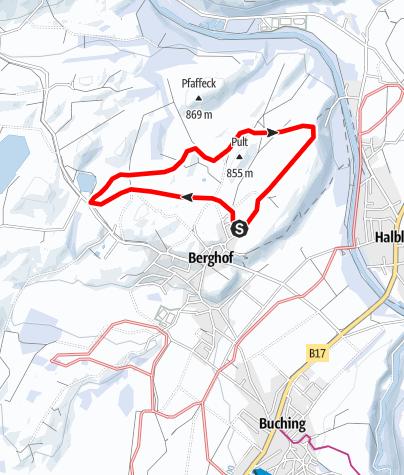 Karte / Berghof-Loipe