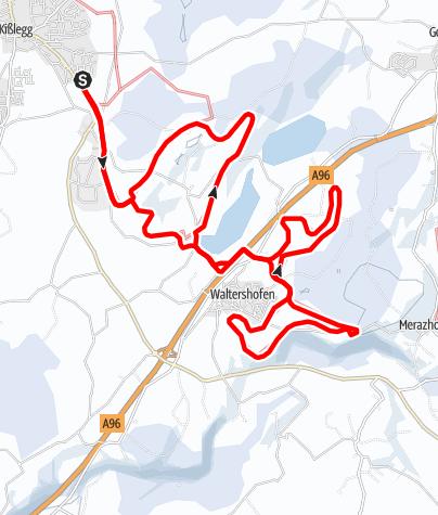 Karte / Waltershofen-Loipe
