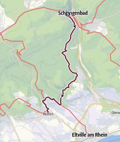 Map / Rheinsteig Stage 2: Schlangenbad - Kiedrich (South - North)