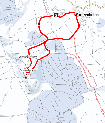 Karte / 17 Kohlplatz-Loipe Wuchzenhofen