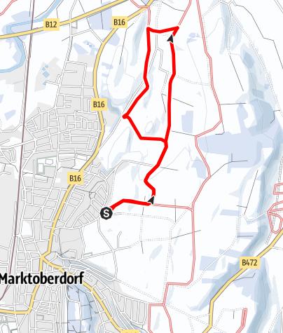 Karte / Hardt-Loipe (M 1) kleine Runde
