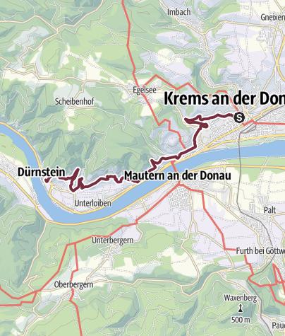 Wachau Karte Donau.Welterbesteig Wachau 01 Krems Durnstein Fernwanderweg