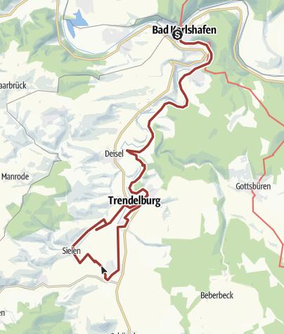Karte / Wanderung auf dem Eco Pfad Diemel, Rad- und Wanderweg