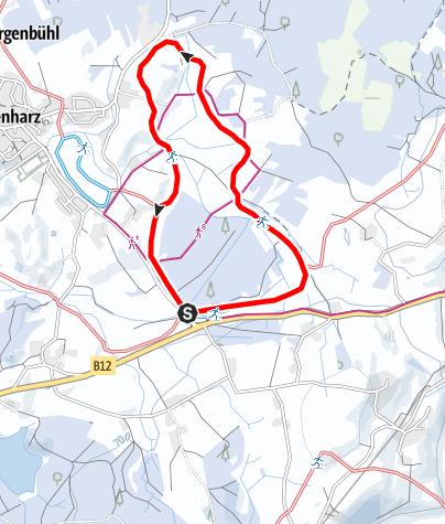 Karte / Argenbühl - Eisenharzer Moosloipe
