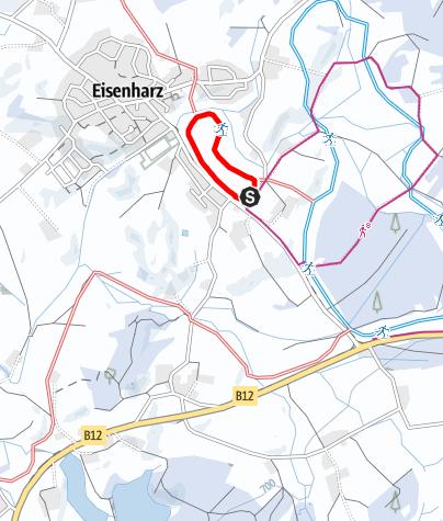 Karte / Argenbühl - Eisenharzer Dorfloipe