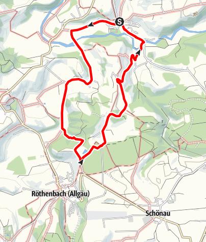 Karte / Von Bächen, Sägen und alten Bädern (Rund um Gestratz/Südschleife)- Westallgäuer Wasserweg 16